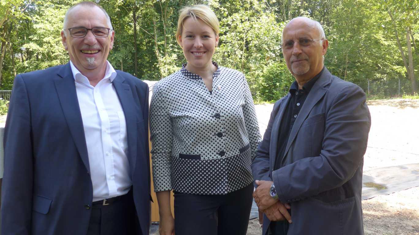 Michael Freiberg MdA, Franziska Giffey BzBm von Neukölln, Jens Friedrich, 2. Vorsitzender Freilandlabor