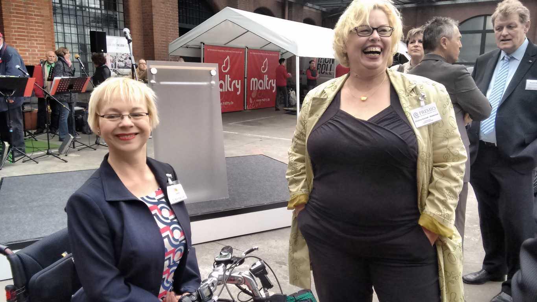 vlnr Gerlinde Bendzuck, Vorsitzende des LV Selbsthilfe und Christine Schmidt von Premio